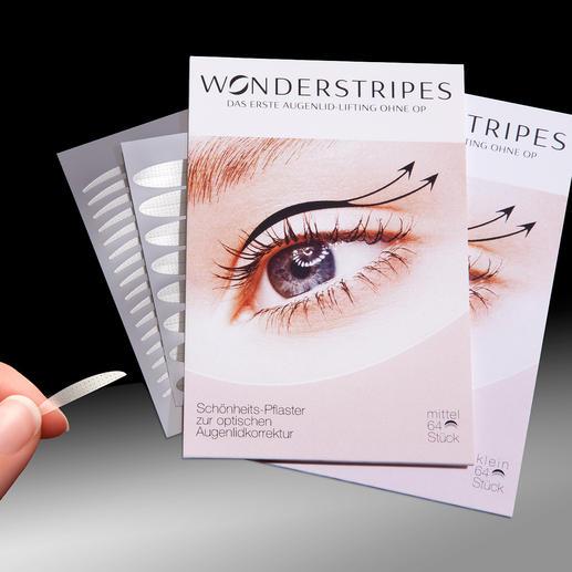 WONDERSTRIPES Waarschijnlijk de eerste ooglid-lifting zonder OP. Eenvoudig en pijnloos.