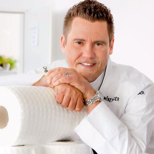 """""""Vermindert het vetgehalte, maar niet het eetplezier."""" Mike Süsser, bekende televisiekok in Duitsland"""