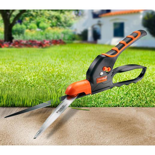 Getande graskantschaar Snijdt zelfs nat gras recht af. Bespaart tijd en energie.