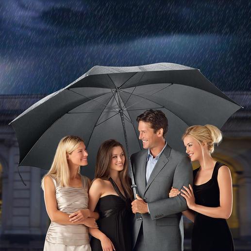 De gigantische paraplu voor de perfecte gastheer. De optimale paraplu voor maximaal 7 personen. Verrassend voordelig.