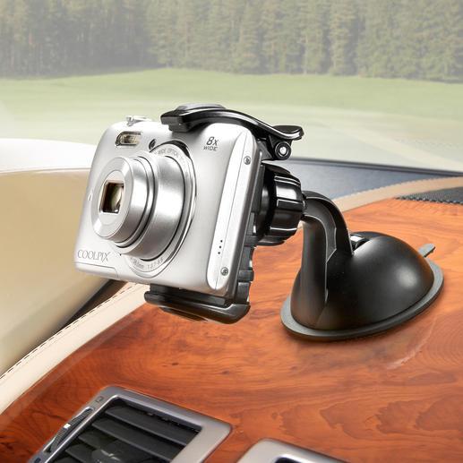 Zelfs apparaten met een diepte van 10 mm worden zonder probleem vastgehouden.