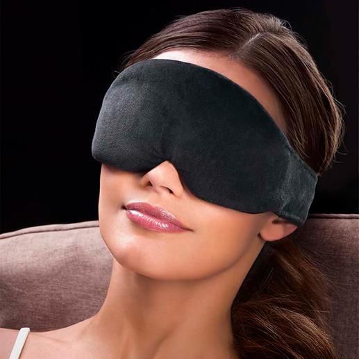 Slaapmasker Vederlicht, beter gevoerd – en eindelijk 100% donker. Compleet met zachte oordopjes.