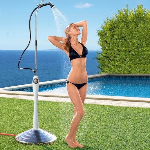 Zonnedouche Sunny Premium In plaats van een koude douche krijgt u aangenaam warm water – dankzij de kracht van de zon.