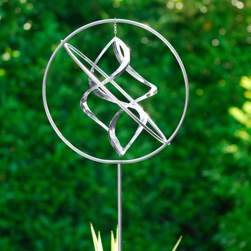 Edelstalen windvanger Kunstig met de hand gemaakt. Een blikvanger voor uw tuin, terras of balkon. In hoogte verstelbaar.