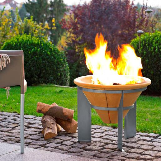 Warmteaccumulator - Krachtige vuurschaal. Nadat de gloed is gedoofd, houdt u het toch nog 2 uur lang warm.