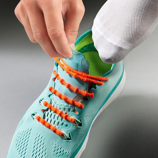 Xtenex vetersysteem Zonder strikken schoenen aan- en uittrekken. Met succes getest in de professionele sportwereld.