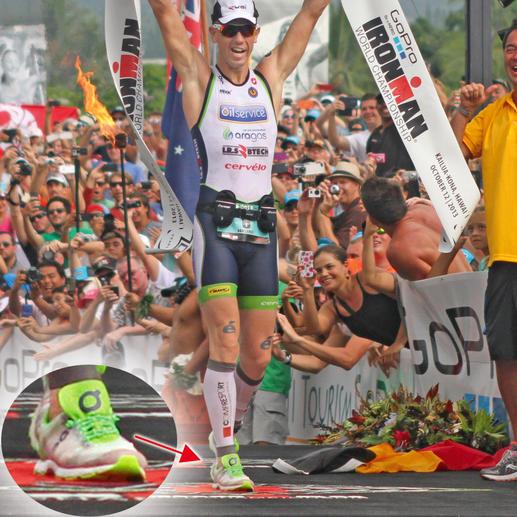Ook Frederik van Lierde is onder de indruk van Xtenex. Hij droeg het vetersysteem 'Sport' tijdens Ironman Hawaii 2013 – en won.
