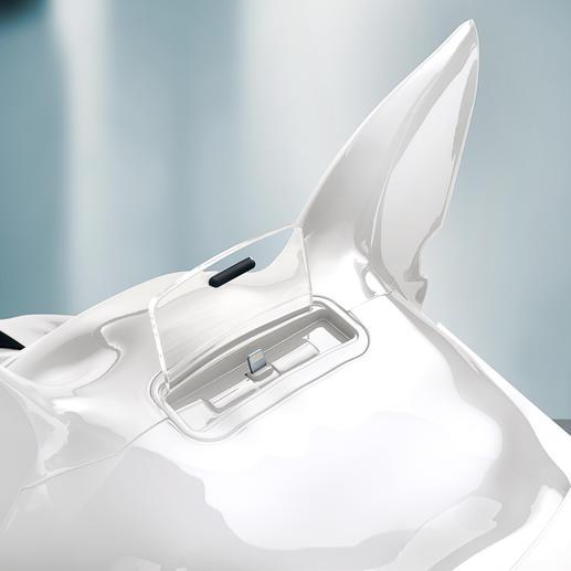 De nieuwere iPhones (v.a. 5) en iPods (touch v.a. 5G, nano v.a. 7G) met Lightning-connector passen op de Lightning-aansluiting. Oudere Apple-modellen zijn gemakkelijk via Bluetooth te verbinden.