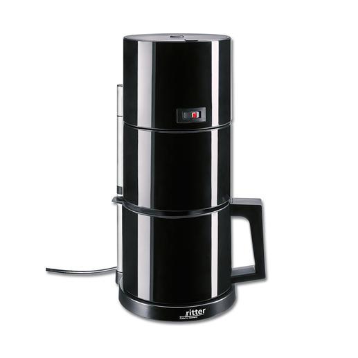 koffiezetap, zwart