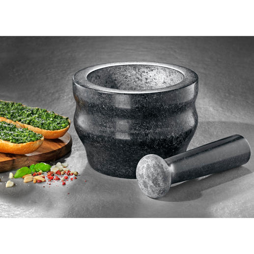 Cole & Mason granieten vijzel Kruiden snel en met behoud van het aroma fijnmalen. In een professionele vijzel van massief graniet.