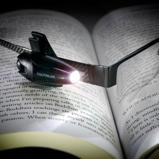 Led-leeslamp 'Nachtbraker' Geniaal om bij te lezen in bed, op langeafstandsvluchten of treinreizen. En u hebt beide handen vrij.
