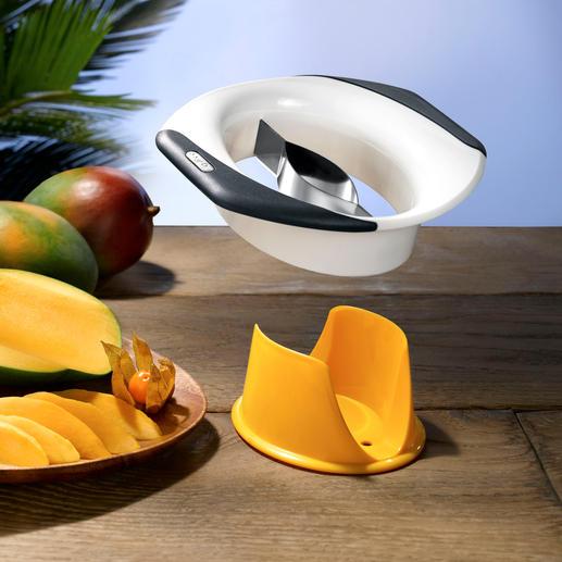 Zyliss® mangosnijder/-schiller Mango's ontpitten, schillen, snijden, ... eenvoudig, snel en schoner dan ooit.