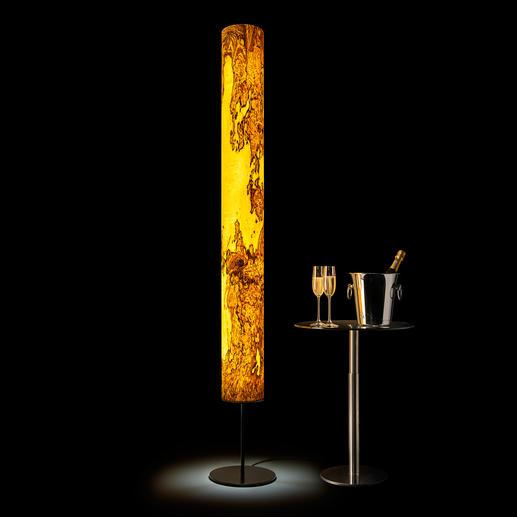 Designlamp van echt hout