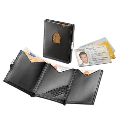 Exentri® Smart Wallet - De kaartenhouder met 2 snel toegankelijke vakken. Past gemakkelijk in de zak van de broek of de jas.