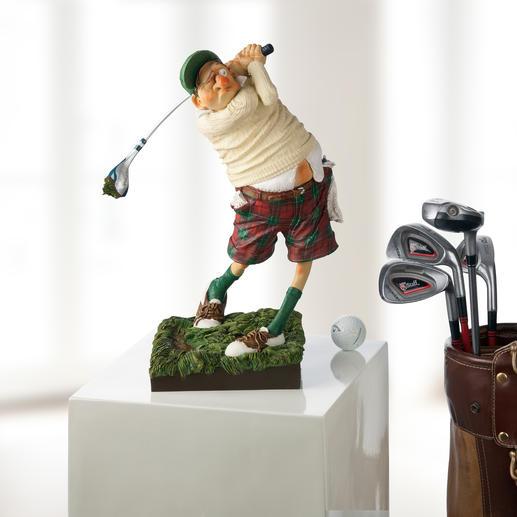 Forchino figuur 'Golfer' De kunst om op een grappige manier de passie voor golf weer te geven.