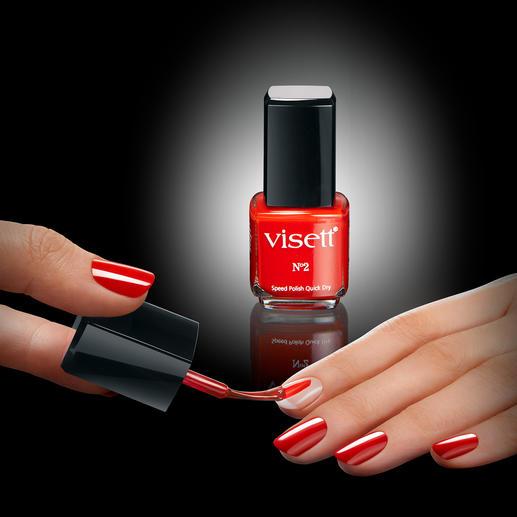 visett® Quick-Dry-nagellak, 12 ml - Eindelijk een nagellak die in slechts 30 seconden droog is. Basecoat, nagellak en topcoat ineen.