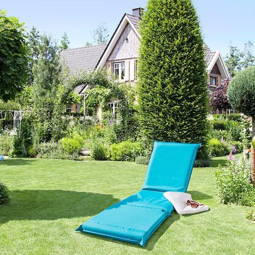 3-in-1-relaxmat Behaaglijk zacht verdikt, met 5-voudig verstelbare rugleuning en slijtvaste textielbekleding.