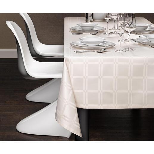 Vlekafstotend tafelkleed Teflon®-ommantelde microvezel maakt deze stof blijvend vuilafstotend en onderhoudsarm.