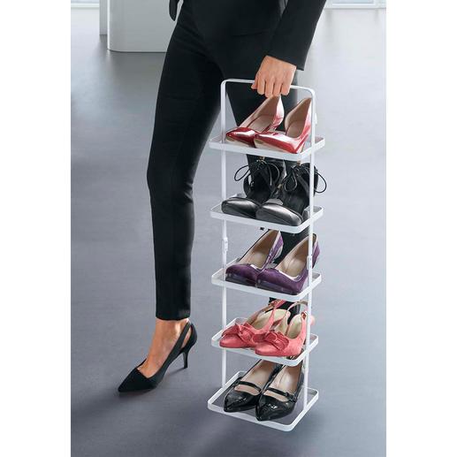 Heel gemakkelijk verplaatst u sneakers, veterschoenen, instappers, pumps en herenschoenen ... Uw schoenen staan stabiel en vallen er niet uit.