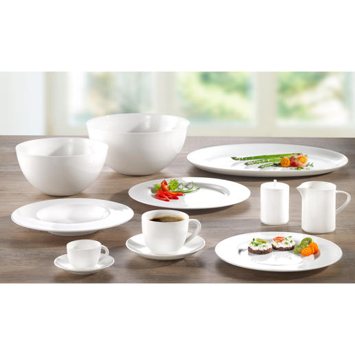 Bone China-servies 'À-Table' Dek uw tafel met porselein van SWISS Air First Class.