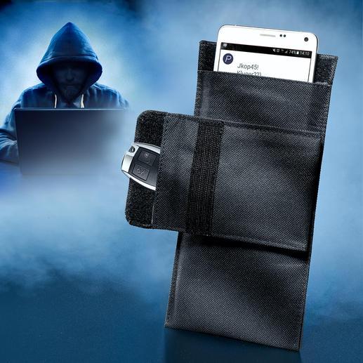 Smartphone-beschermingshoesje Beschermt mobiele telefoons & smartphones 100% tegen ongewenste toegang, tracking, manipulatie van buitenaf.