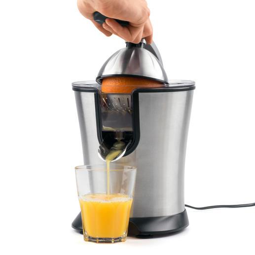 Elektrische citruspers Caso CP 200 Prima uitvoering, prima verwerking, prima prijs. Druppelt en lekt niet.  Gemakkelijk te reinigen.
