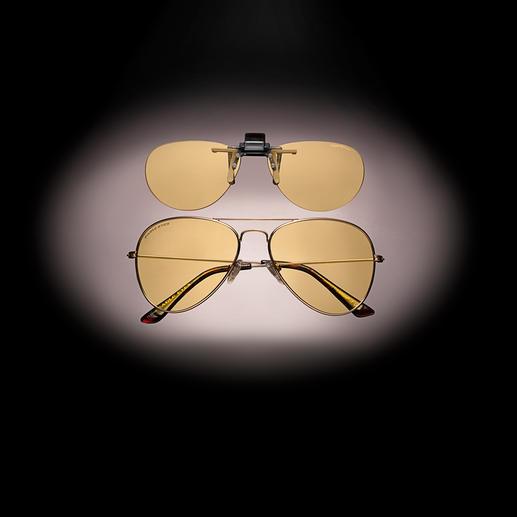 Eagle Eyes® nachtbril of -opzetbril Eindelijk beter zicht wanneer u 's nachts in de auto rijdt. Van Eagle Eyes®, USA.