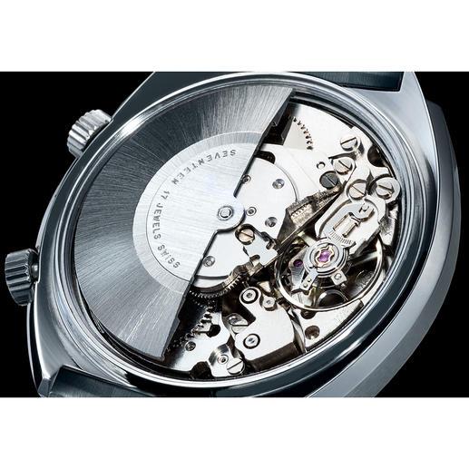 Batterijen zijn niet nodig: het uurwerk heeft een automatisch opwindmechanisme.