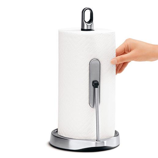 Keukenrolhouder met éénhandsbediening Supersnel de juiste hoeveelheid keukenpapier.