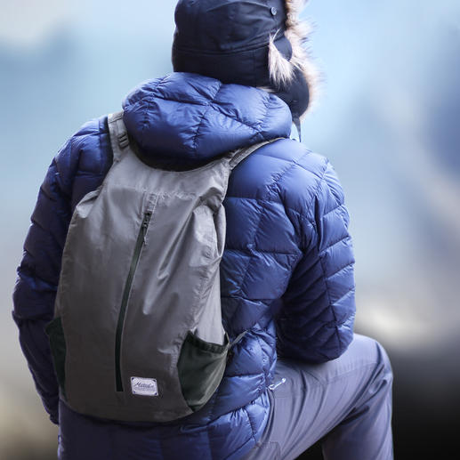 Opvouwbare outdoor-rugzak Altijd bij de hand: waterdichte, opvouwbare rugzak in zakformaat.