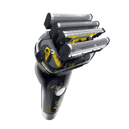 In het uiterst efficiënte, 4-voudige scheersysteem is een trimmer geïntegreerd.