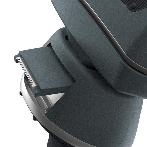 De contourentrimmer is uitschuifbaar en zorgt voor nauwkeurige, strakke randen.