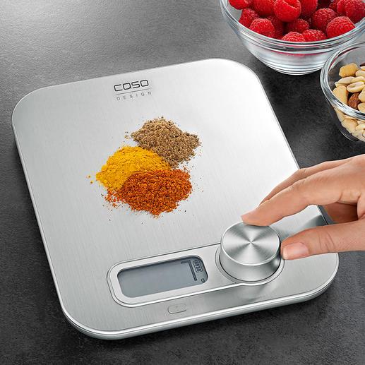 Keukenweegschaal Kinetic-Energy Een van de eerste digitale keukenweegschalen zonder batterijen.