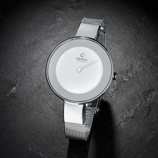 Horloge met milanaise-bandje Licht, plat en fijn verwerkt: horloge en modieus smal armbandje ineen.