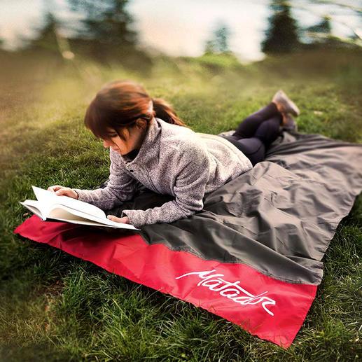 Ultralichte deken in zakformaat Kleiner dan een smartphone en weegt slechts 98 gram.