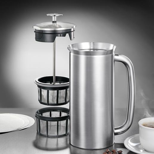 Dubbel microfiltersysteem voor genieten van pure koffie.