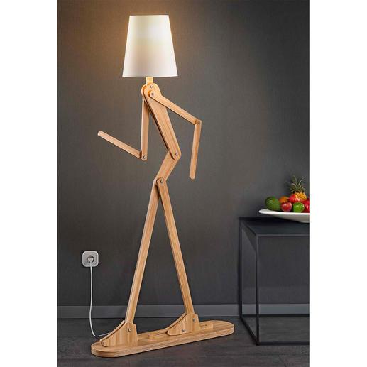 Staande lamp mens Deze beweegbare lichtsculptuur neemt elke houding aan die u maar wilt.