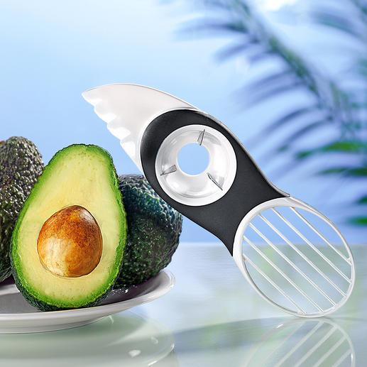 3-in-1-avocadosnijder Avocado's doormidden snijden, de pit verwijderen, het vruchtvlees eruit halen, snijden, ...