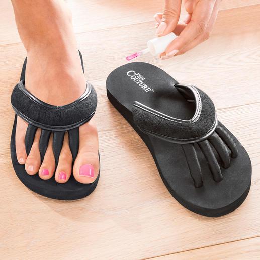 Teenspreider-sandaal - Heel handig: de sandalen voor ontspannen tenen en perfect gelakte nagels.