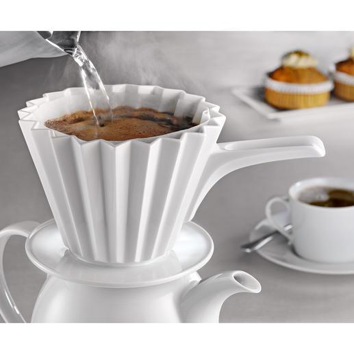 Thermo-koffiefilter Houdt beter de juiste temperatuur vast en extraheert op optimale wijze de koffiearoma's. Van KPM Berlin.