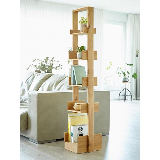 wireworks designkast Bookie - Veelzijdige open kast van trendy eikenhout.