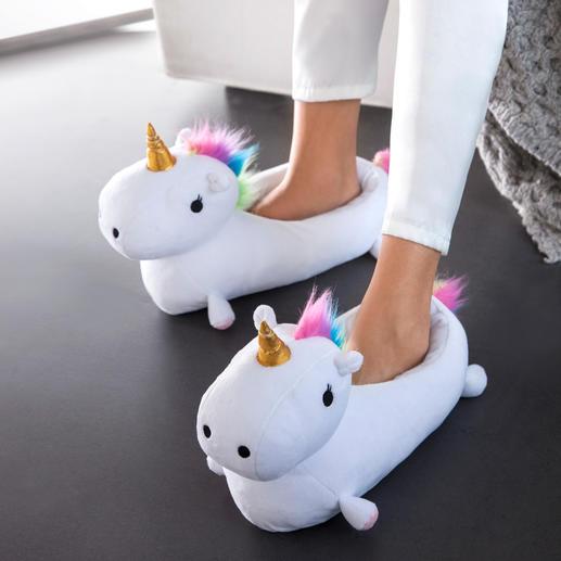Pantoffels ʻEenhoorn' - Sprookjesachtige warme voeten worden trendy.