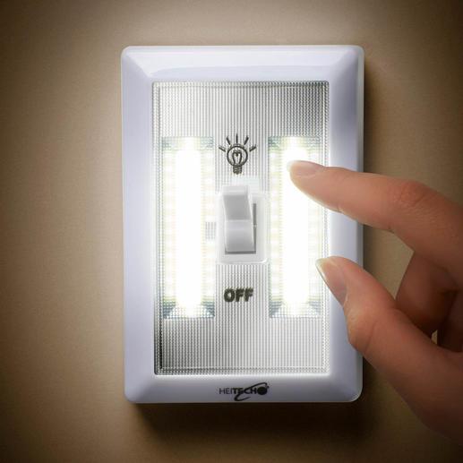 Led-wandverlichting op batterijen, set van 3 Een goed verlichte ruimte – eenvoudiger dan ooit.