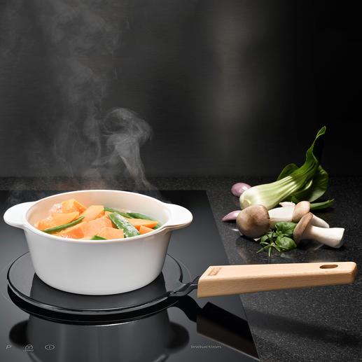 2-in-1-adapterplaat - Maakt al uw veelgebruikte pannen geschikt voor inductie en houdt uw gerechten warm op tafel.