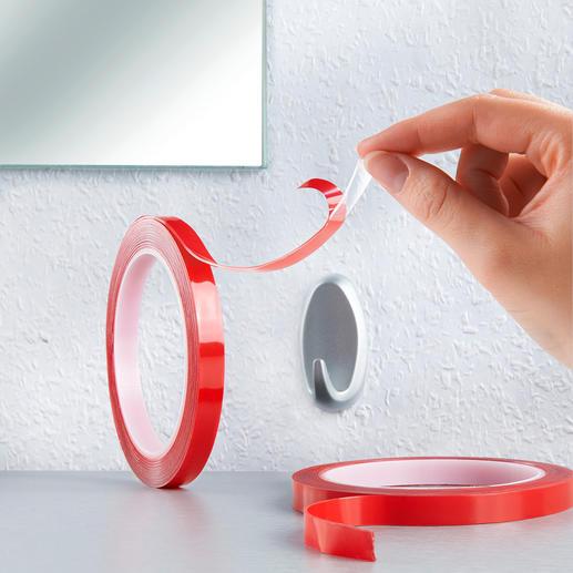 Power Tape, set van 2 - Supersterk dubbelzijdig plakband dat ook hecht aan ruwe oppervlakken.
