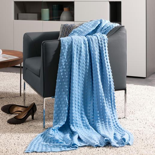 StrickArt plaid met noppen - Ideaal voor thuis en om mee te nemen. Heerlijk zacht en decoratief.