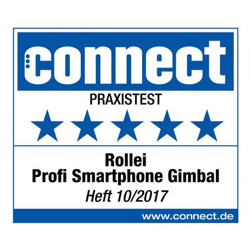 5 (van 5) sterren voor de professionele smartphone-gimbal van Rollei in de praktijktest. connect, editie10/2017.