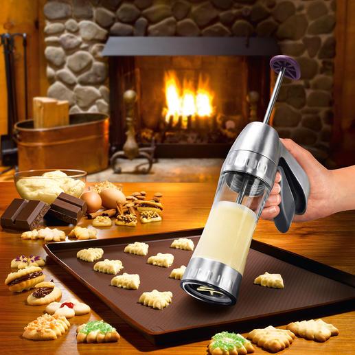 Koekjespers Cookie Pro™ Het maken van spritsen en andere koekjes ging nog nooit zo snel en gemakkelijk.