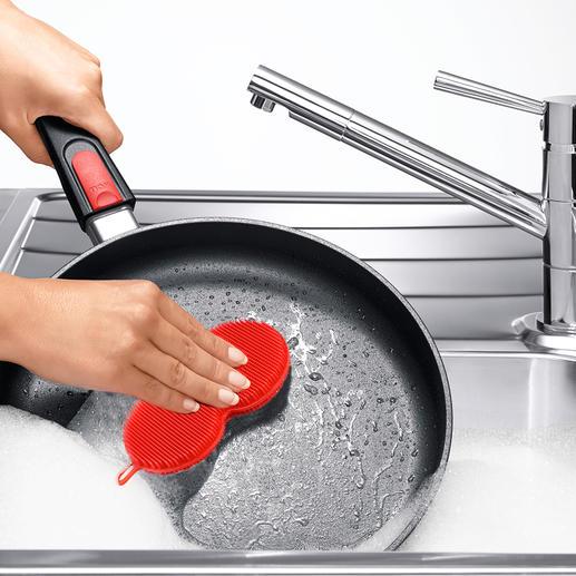 Siliconenspons, set van 3 Maakt hygiënisch schoon en geeft bacteriën geen kans.
