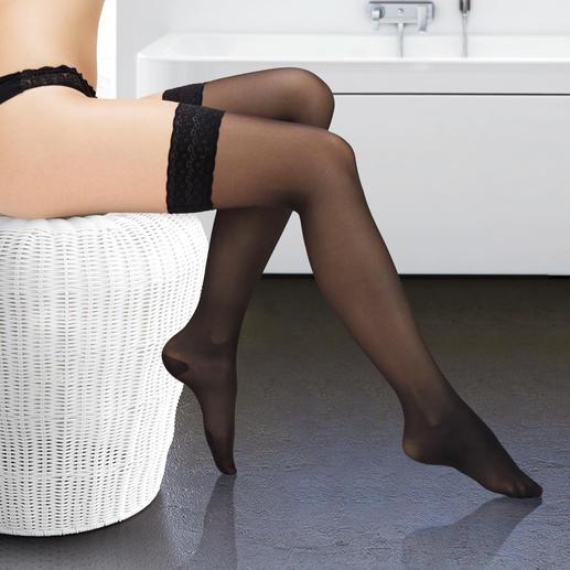 Kniekousen, Zelfophoudende kousen of Panty met steunend effect Met deze kniekousen, zelfophoudende kousen en panty ziet u er altijd goed uit.
